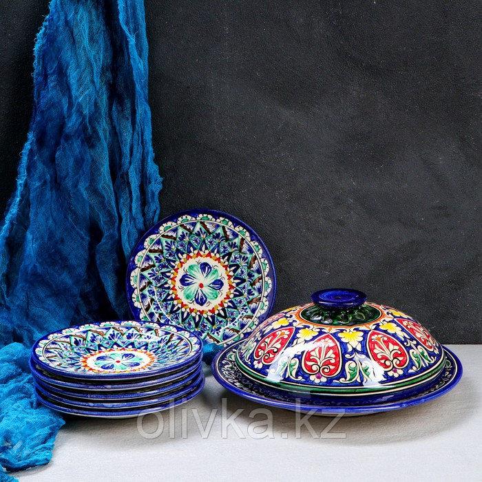 Набор для блинов Риштан, 7 предметов: блинница 30см, 6 тарелок 17см