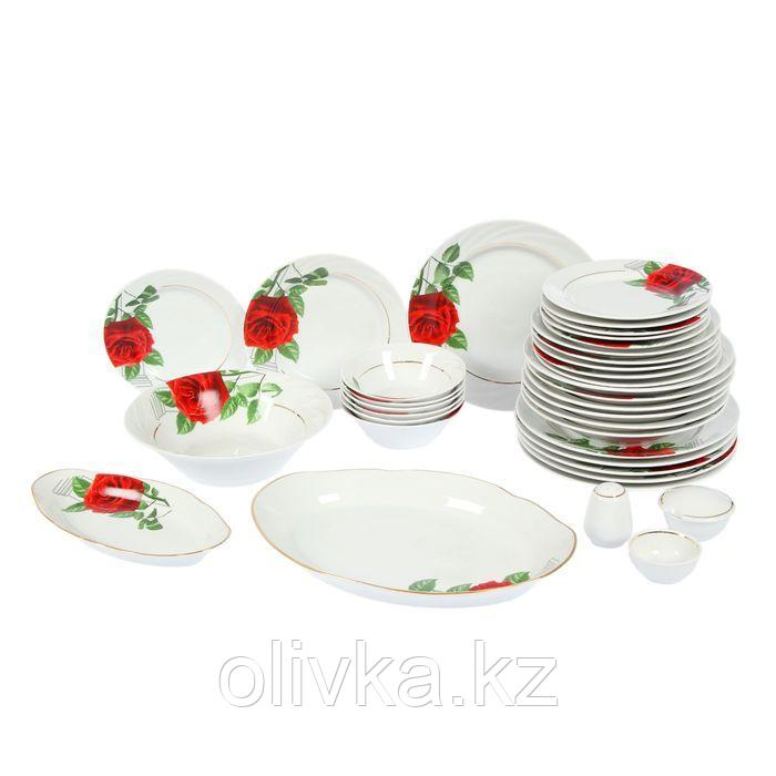 Сервиз столовый «Роза на капители», 36 предметов, 4 вида тарелок