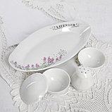 Сервиз столовый «Лаванда», 36 предметов, 4 вида тарелок, фото 5