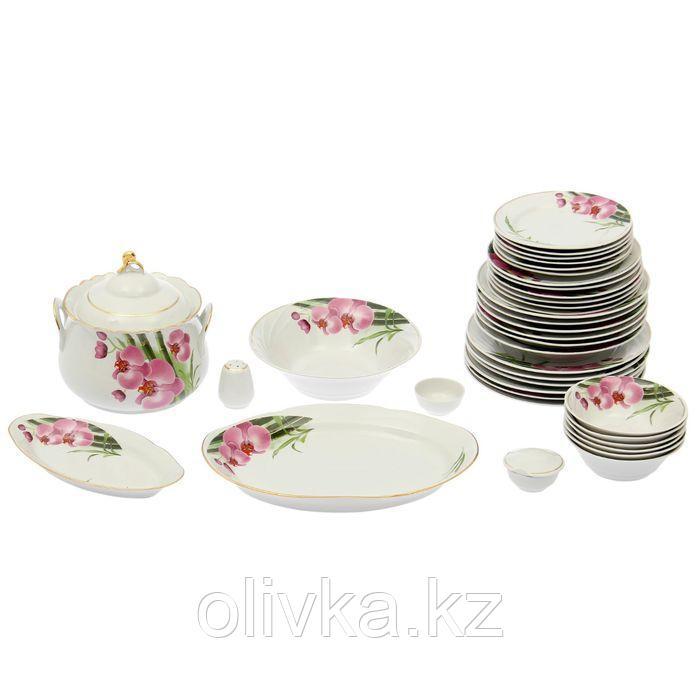 Сервиз столовый «Бамбуковая орхидея», 37 предметов, 4 вида тарелок