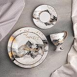 Набор столовый «Марбл», 4 предмета: кружка 220 мл, тарелки d=25,5/20,5/15,5 см, фото 2