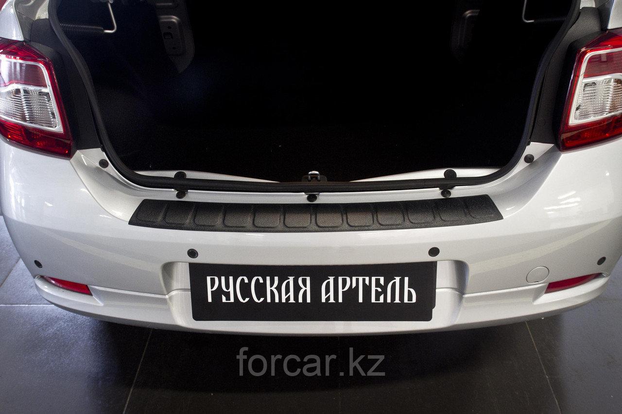 Накладка на задний бампер Renault Logan 2014-