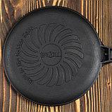 """Сковорода чугунная блинная """"ОПТИМА-BLACK"""", 240 х 15 мм, ТМ BRIZOLL, фото 2"""