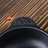 "Сковорода чугунная овальная ""ХОРЕКА"" с подставкой, 180 х 100 х 25 мм, ТМ BRIZOLL, фото 3"