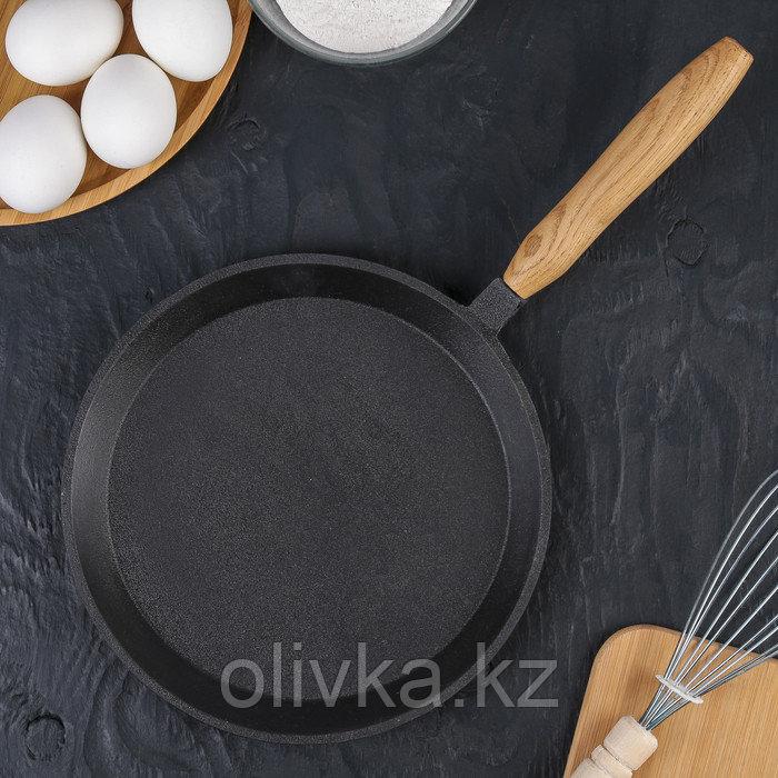 Сковорода блинная 22 см, с деревянной ручкой