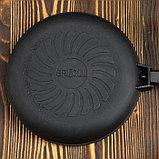 """Сковорода чугунная """"ОПТИМА-BLACK"""", 220 х 40 мм, ТМ BRIZOLL, фото 2"""