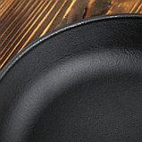 """Сковорода чугунная """"ОПТИМА-BLACK"""", 220 х 40 мм, ТМ BRIZOLL, фото 4"""