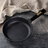 """Сковорода чугунная """"ОПТИМА-BLACK"""", 220 х 40 мм, ТМ BRIZOLL, фото 6"""