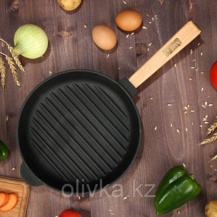 """Сковорода чугунная гриль """"ОПТИМА"""", 240 х 40 мм, ТМ BRIZOLL"""