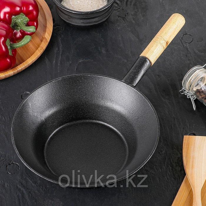 """Сковорода 21,5 см """"Эко"""", с деревянной ручкой"""