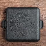 """Сковорода чугунная квадратная гриль """"ХОРЕКА"""" с подставкой, 180 х 180 х 25 мм, ТМ BRIZOLL, фото 3"""