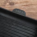 """Сковорода чугунная квадратная гриль """"ХОРЕКА"""" с подставкой, 180 х 180 х 25 мм, ТМ BRIZOLL, фото 5"""
