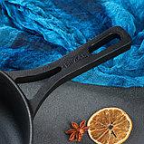 """Сковорода чугунная """"МОНОЛИТ"""" с литой ручкой, 260 х 60 мм, ТМ BRIZOLL, фото 4"""