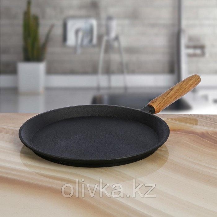 Сковорода блинная 24 см, с деревянной ручкой