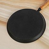 Сковорода блинная 24 см, с деревянной ручкой, фото 2