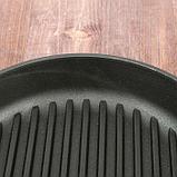 """Сковорода чугунная гриль """"ОПТИМА"""", 260 х 40 мм, ТМ BRIZOLL, фото 7"""