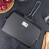 Сковорода-гриль со складывающейся ручкой 35×20 см, фото 6