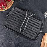 Сковорода-гриль со складывающейся ручкой 35×20 см, фото 5