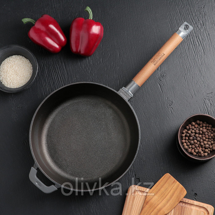 Сковорода 24 см, съемная ручка