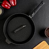 Сковорода-гриль 28 см, со съёмной ручкой, чугунная крышка, фото 2