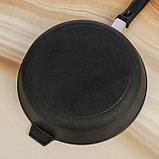 Сковорода-гриль 28х6 см литая, чугунная крышка, фото 4