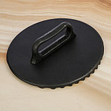 Сковорода-гриль 28х6 см литая, чугунная крышка, фото 6