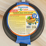 Сковорода-гриль 28х6 см литая, чугунная крышка, фото 9