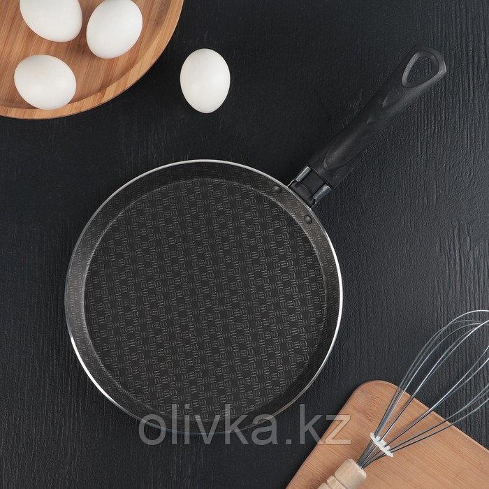 Сковорода блинная «Русская кухня», лён, 22 см