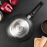 Сковорода «Eco.Black» 20 см, с антипригарным покрытием, ручка soft-touch, индукционное дно, фото 3