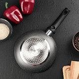 Сковорода «Eco.Grey» 20 см, с антипригарным покрытием, ручка soft-touch, индукционное дно, фото 3