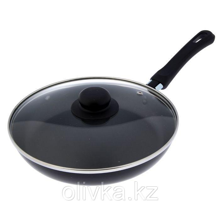 Сковорода «Promo», d=24 см, стеклянная крышка