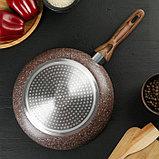 Сковорода 26 см Mountain Brown, антипригарное гранитное покрытие, ручка soft-touch, индукционное дно, фото 3