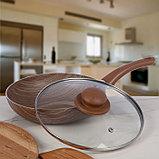 Сковорода глубокая Kantry, 22 см, со стеклянной крышкой, фото 2