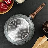 Сковорода 26 см Mountain Grey, антипригарное гранитное покрытие, ручка soft-touch, индукционное дно, фото 3