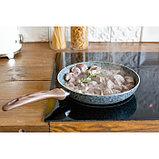 Сковорода 26 см Mountain Grey, антипригарное гранитное покрытие, ручка soft-touch, индукционное дно, фото 5