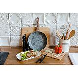 Сковорода 26 см Mountain Grey, антипригарное гранитное покрытие, ручка soft-touch, индукционное дно, фото 7