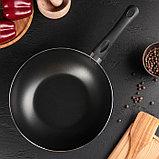 Сковорода-ВОК 28 см «LITE», стеклянная крышка, фото 2