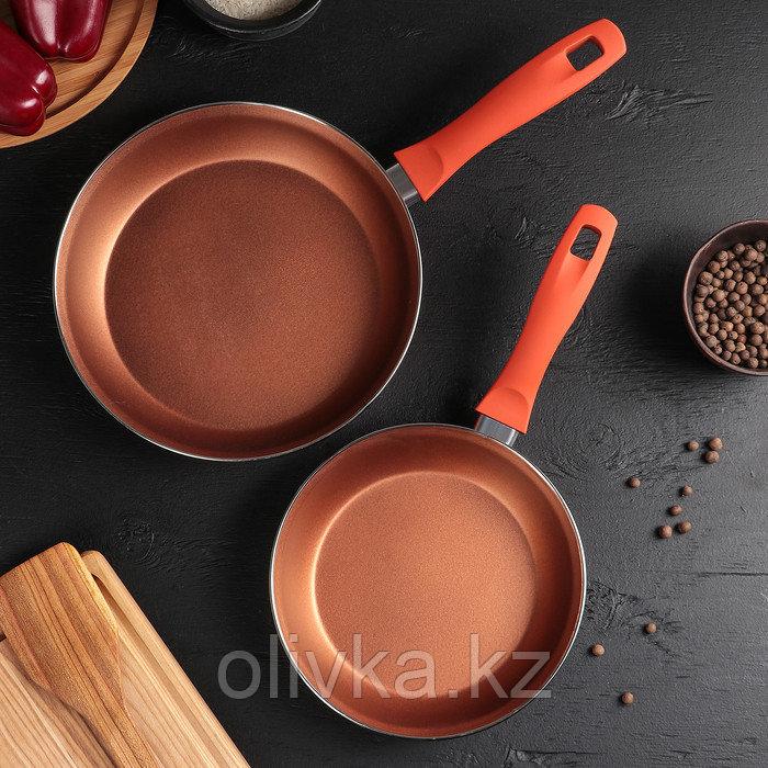 Набор сковород «Эмаль», d=20/24 см, 2 шт