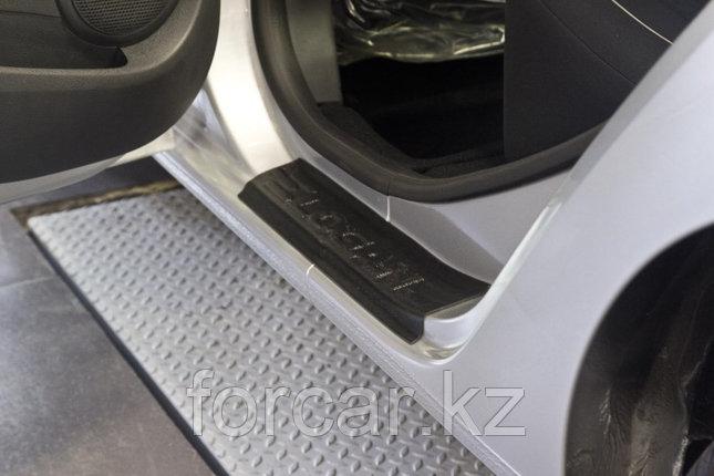 Накладки на внутренние пороги дверей Renault Logan 2014-, фото 2