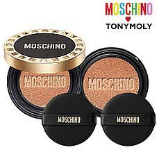 Кушон из лимитированной коллекции Moschino & Tony Moly Chic Skin Cushion SPF 50+ PA+++  (Тон 02 Chic Beige)