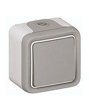 Переключатель 10A, серый накл 069711