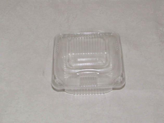 Упаковка квадрат внеш. 130х130х75мм, внутр.105x105x70мм, прозрачная, ОПС, 450 шт, фото 2