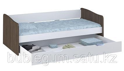 Кровать детская выдвижная Polini kids Simple 4210, белый-трюфель