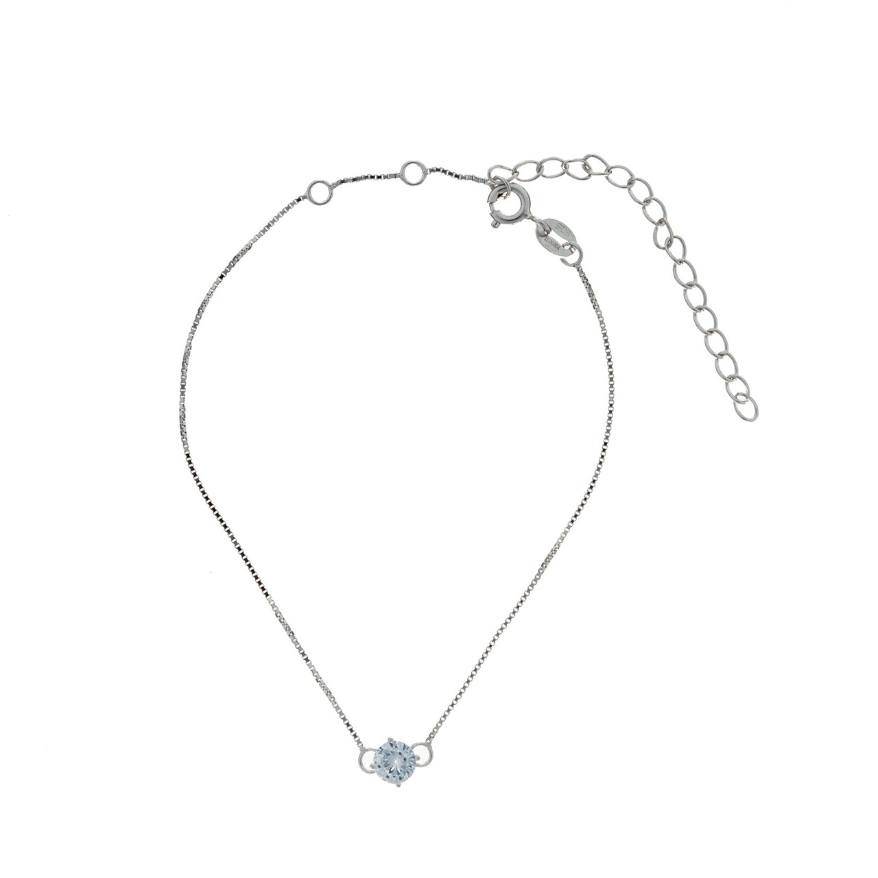 Серебряный  браслет  Brosh Jewellery (Серебро 925) покрытие родий,вставка фианит.