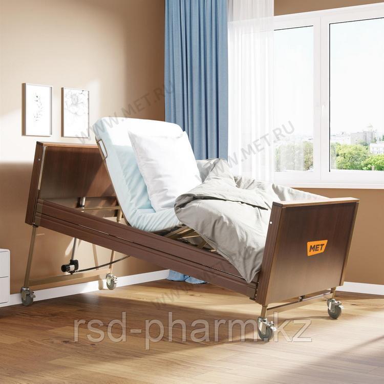 MET TERNA Кровать функциональная медицинская с регулировкой высоты, цвет венге