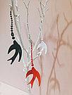 Серьги Brosh Jewellery  Ласточка ручной работы (акрил, белый), фото 3