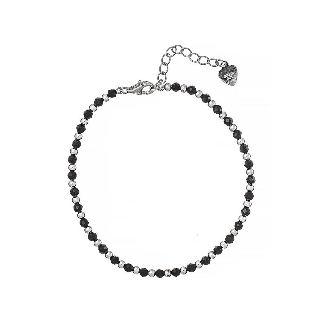 Серебряный  браслет г Brosh Jewellery (Серебро 925) покрытие родий, вставка Стекло