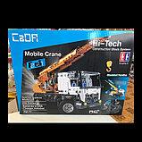 Конструктор CaDa C51013W Кран на  радиоуправлении, 838 дет. аналог Лего Техник LEGO Technic, фото 6