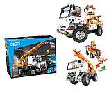 Конструктор CaDa C51013W Кран на  радиоуправлении, 838 дет. аналог Лего Техник LEGO Technic, фото 3