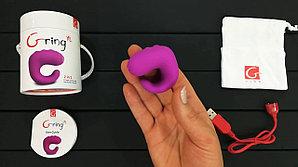 "Вибратор на палец 2 в 1 ""Gring XL - Sweet Raspberry"" - Gvibe, 5.0 см"
